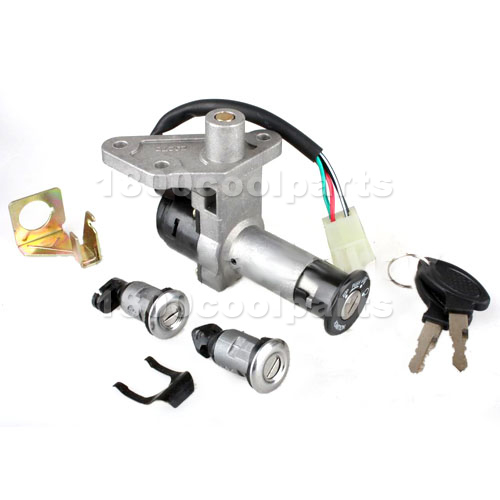 Chinese Ignition Switch Key Set 4 Wire GY6 150cc Moped