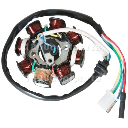 Four Wheeler Coils : Coil stator magneto gy cc quad atv moped go kart