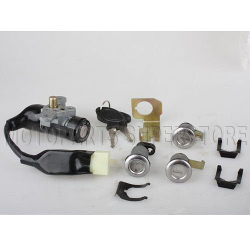 4 pin ignition key switch assembly for gy6 150cc 250cc. Black Bedroom Furniture Sets. Home Design Ideas