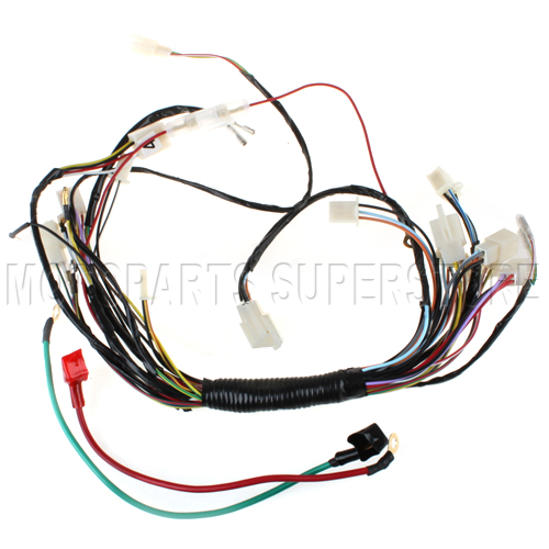 new main wiring harness 110cc 125cc taotao atvs quads four wheeler main wire harness 110cc 125cc atv 4 wheeler quad taotao